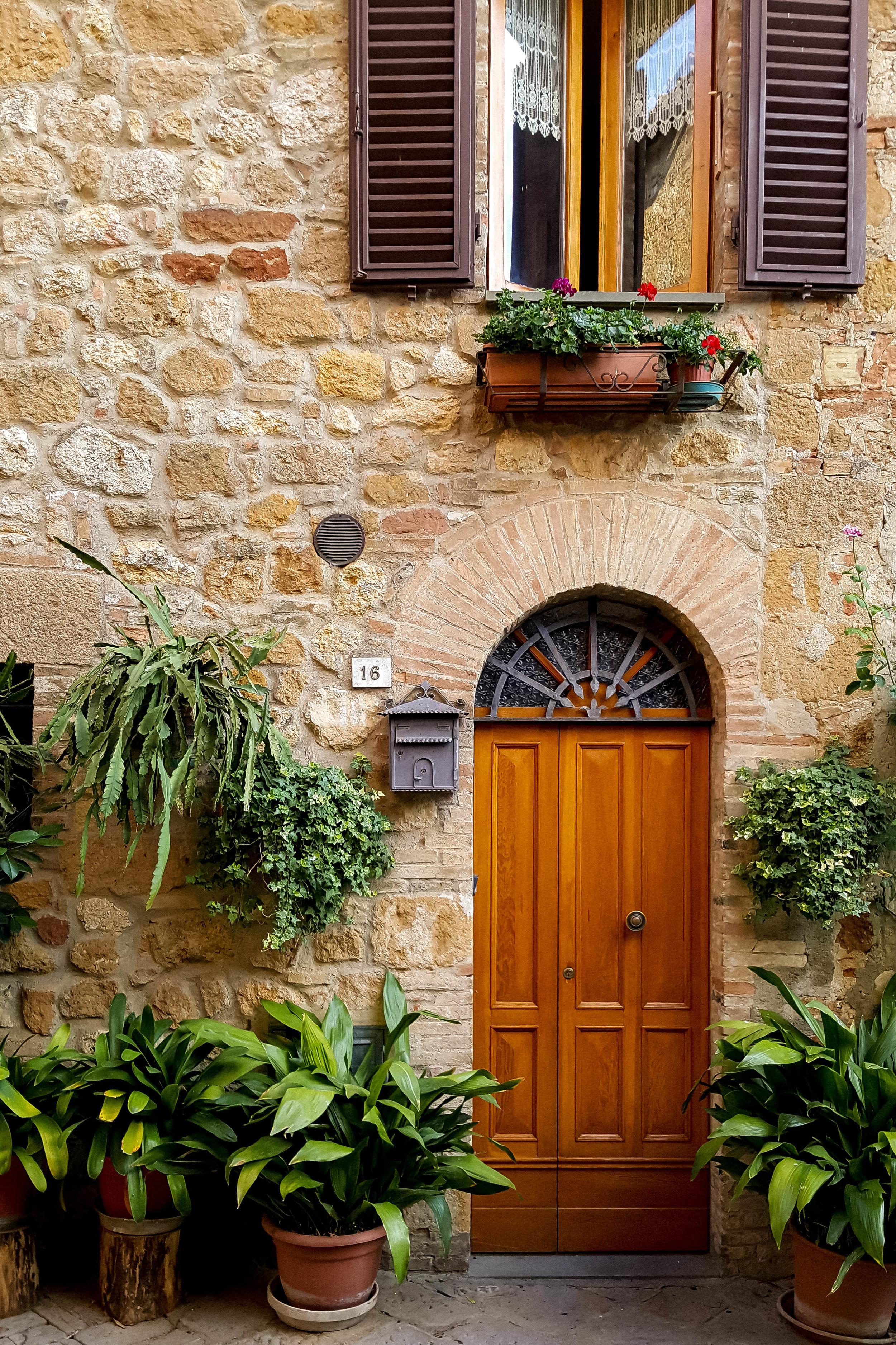 Doors of Pienza, Tuscany