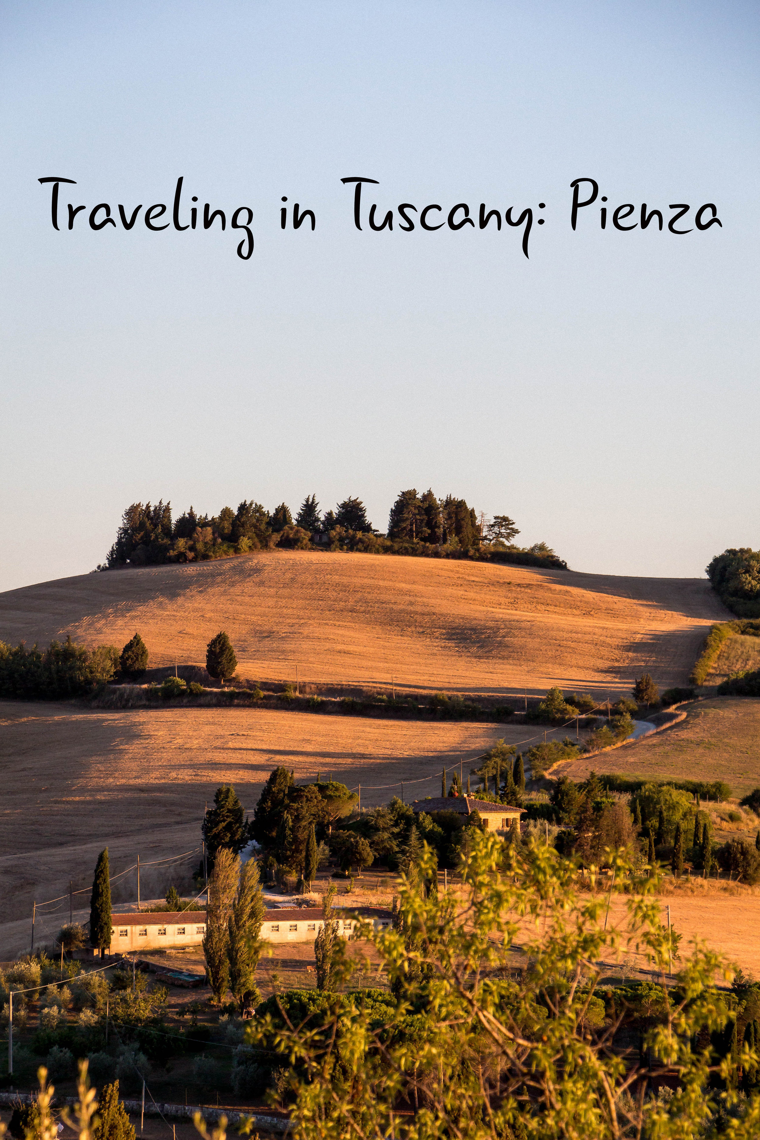 The views of Val d'Orcia from Pienza, Tuscany