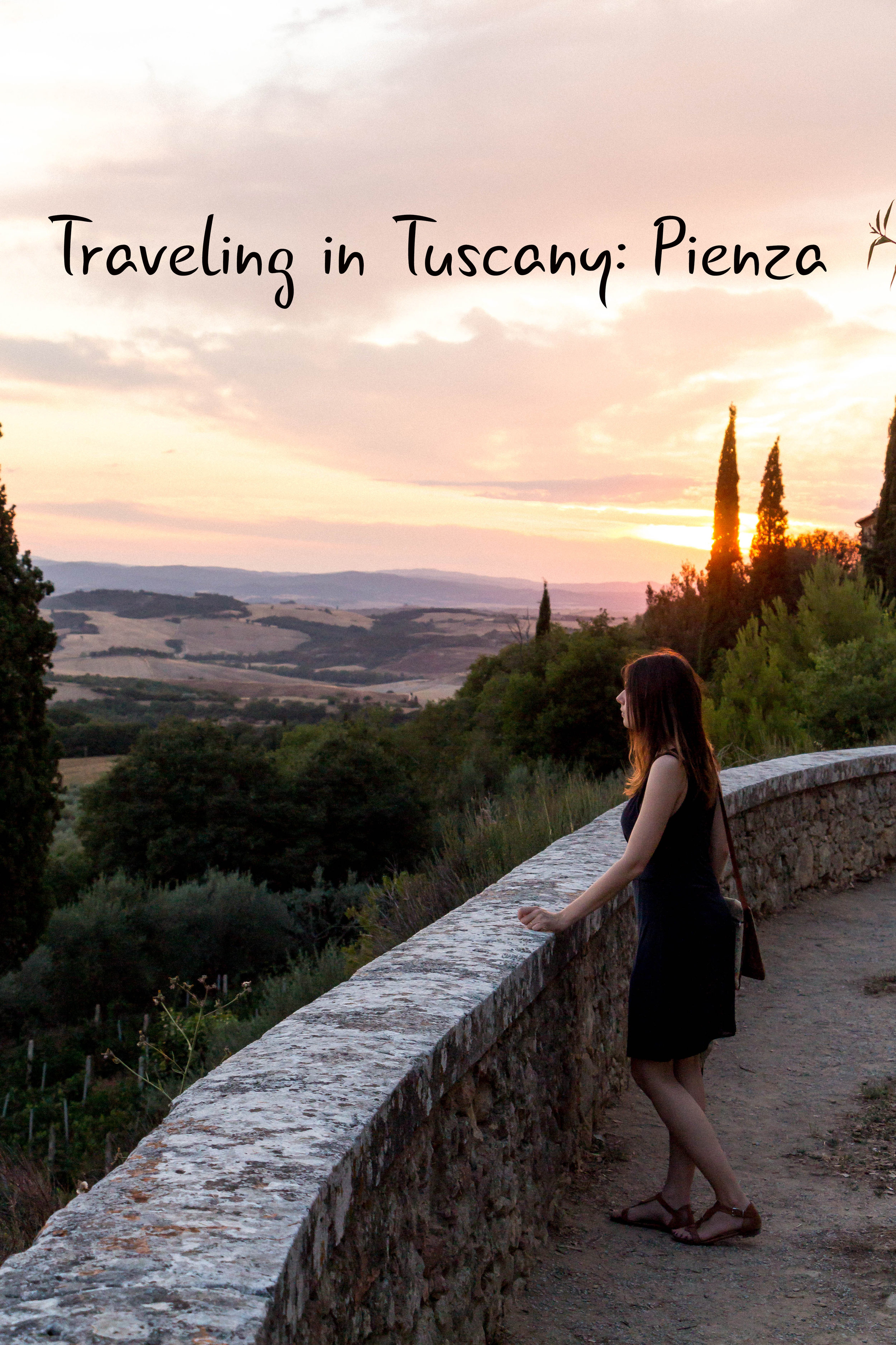 Sunset in Pienza, Tuscany