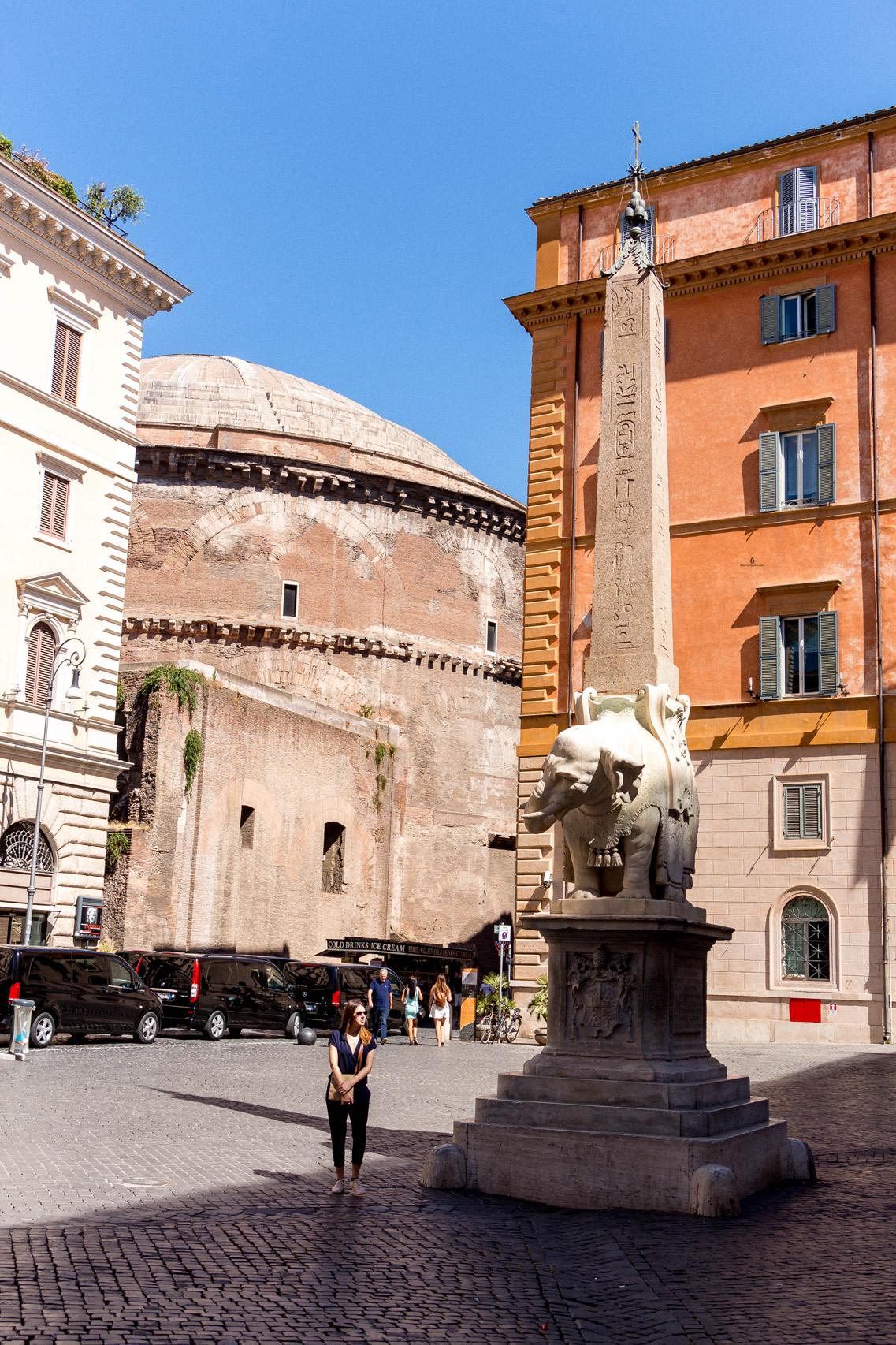 Bernini's Elephant sculpture, Rome