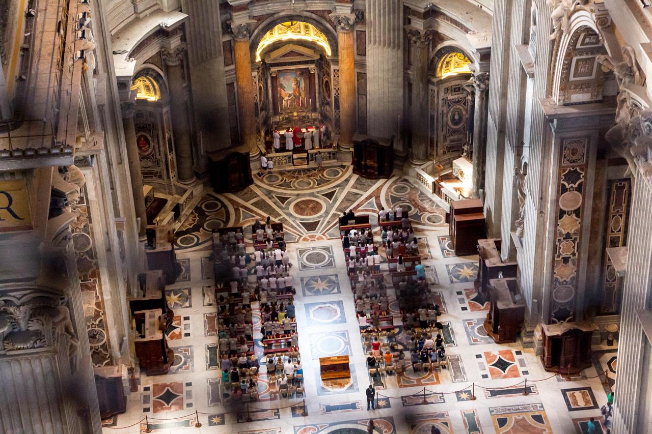 St.Peter's Basilica interior, Rome