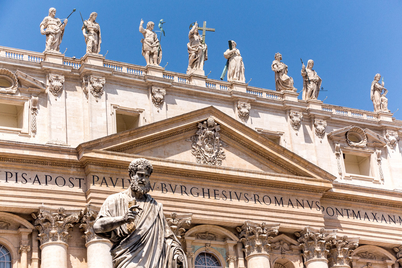 St.Peter's Basilica facade, Vatican
