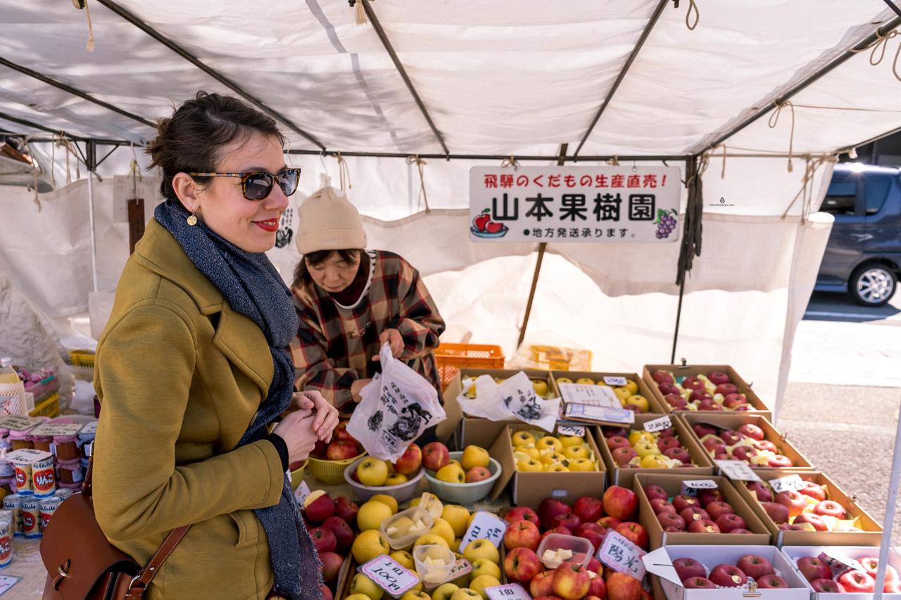 On the market in Takayama