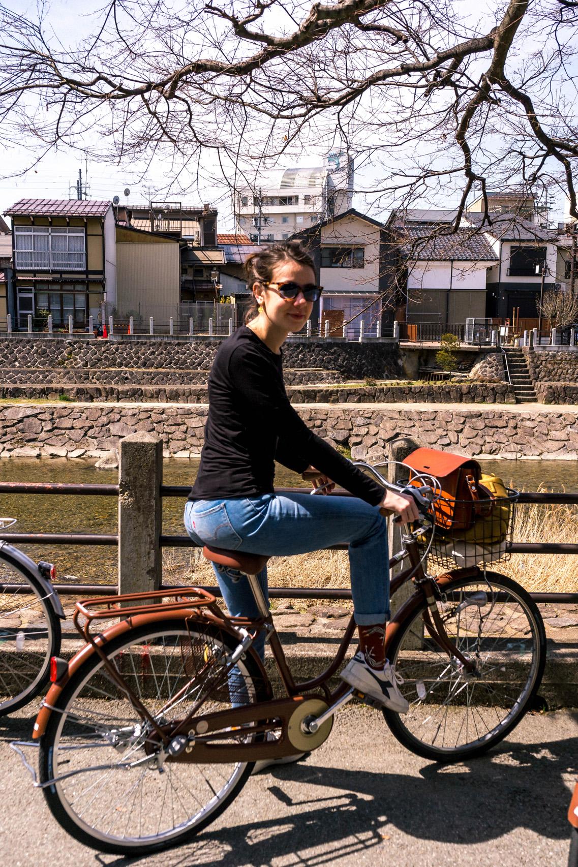 Cycling by the Miyagawa river