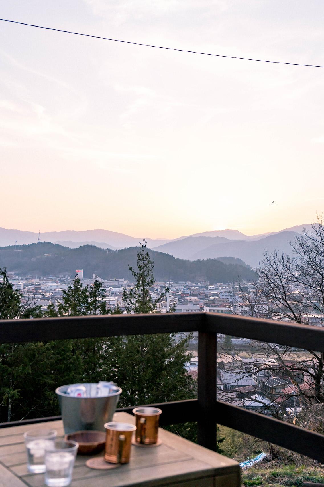 View of Takayama from Ichii cafe