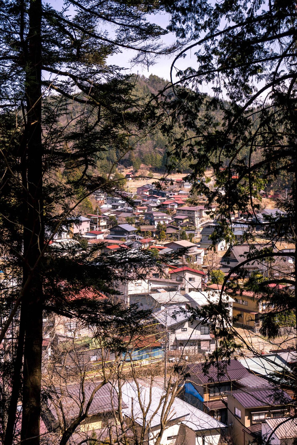 View of Takayama from Shiroyama park