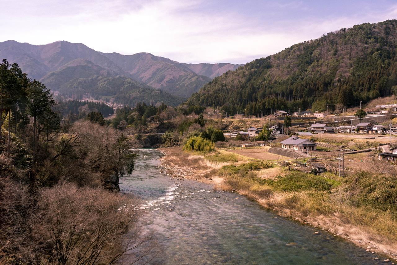 Train ride trough Hida prefecture, Japan
