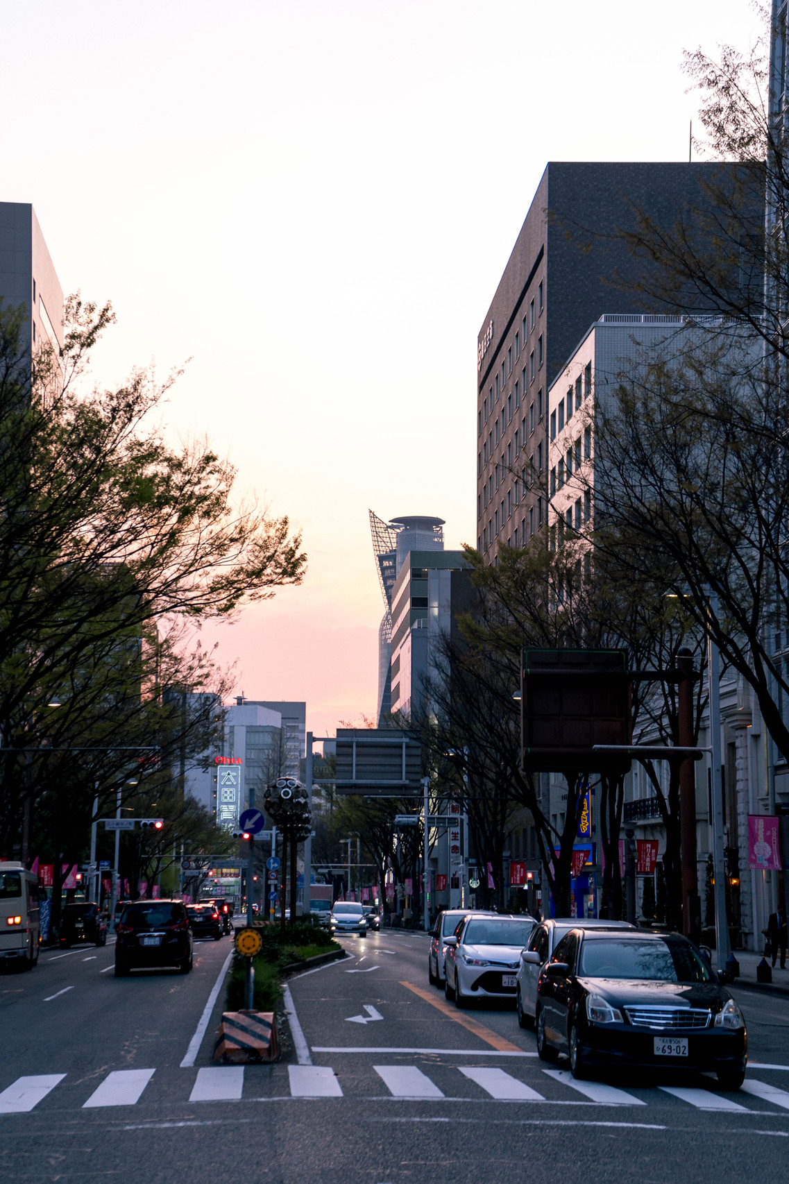 Nagoya at dusk