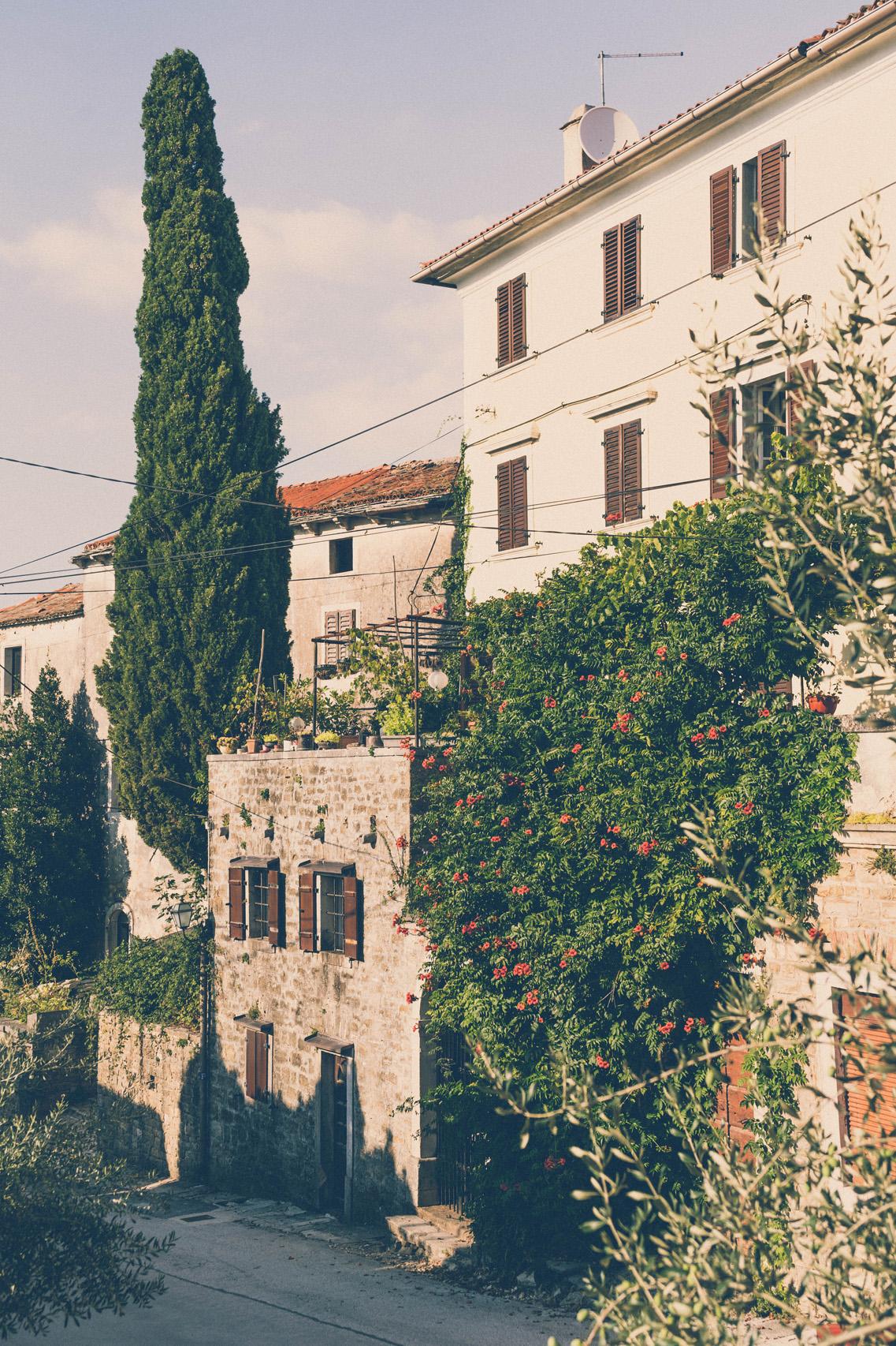 Hilltop town of Oprtalj, Istria