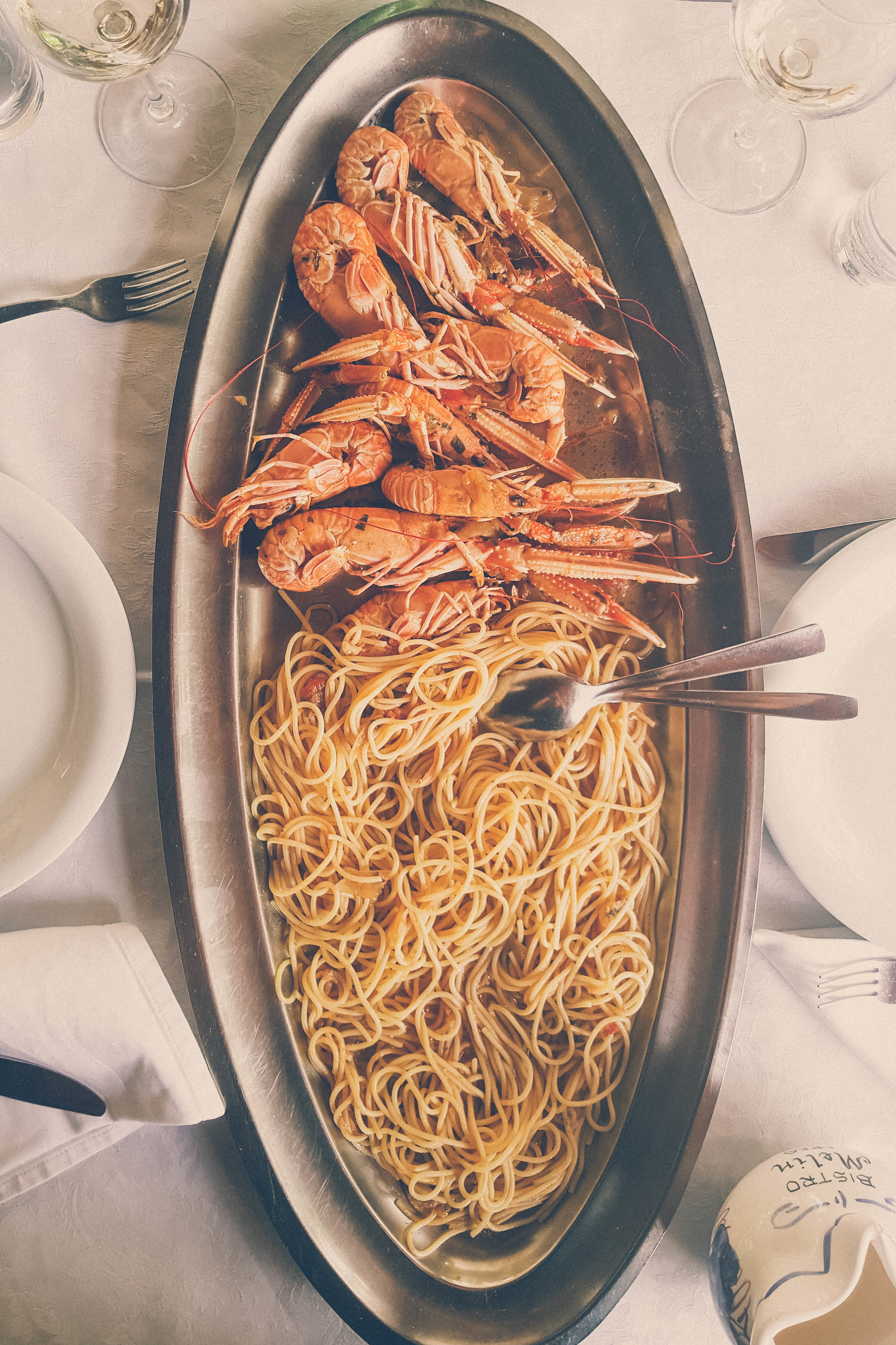 Scampi at Bistro Melin, Cres