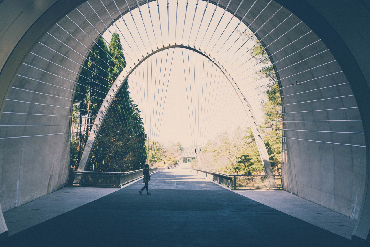 Tunnel leading to Miho Museum, Japan