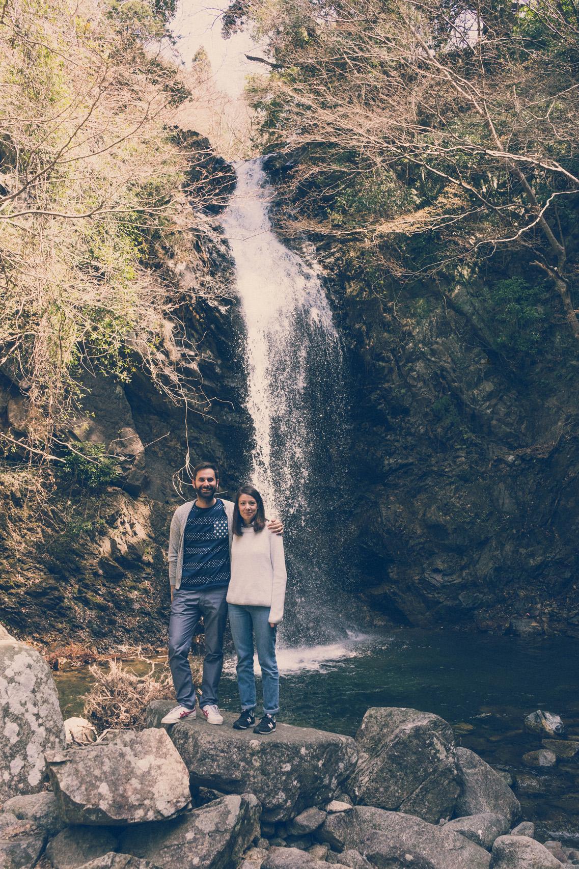 At a waterfall near Iga, Japan