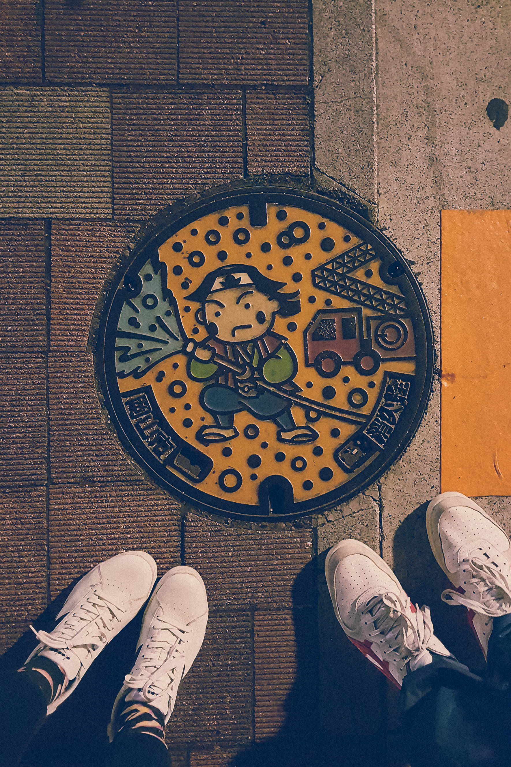 Manhole cover in Okayama