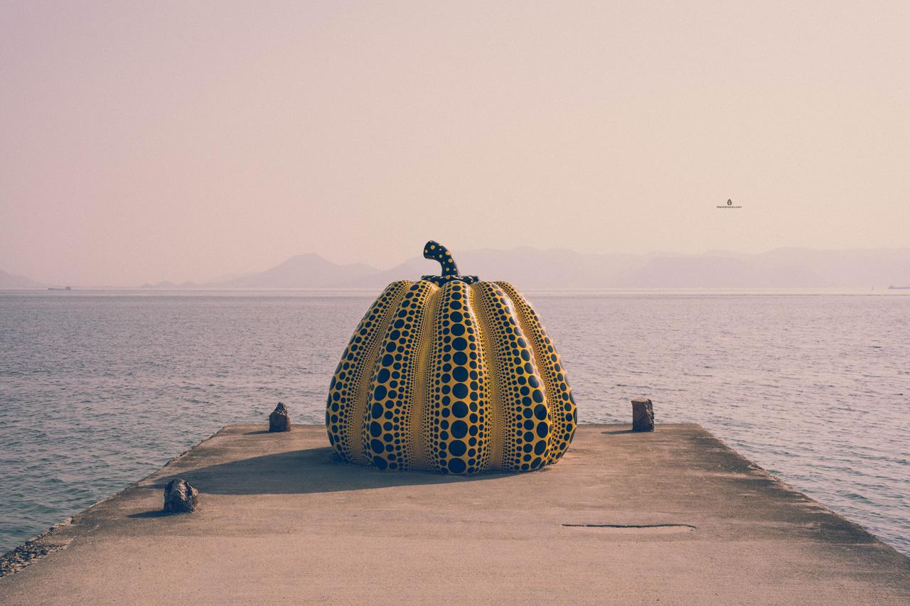 Yayoi Kusama's Pumpkin, Naoshima island