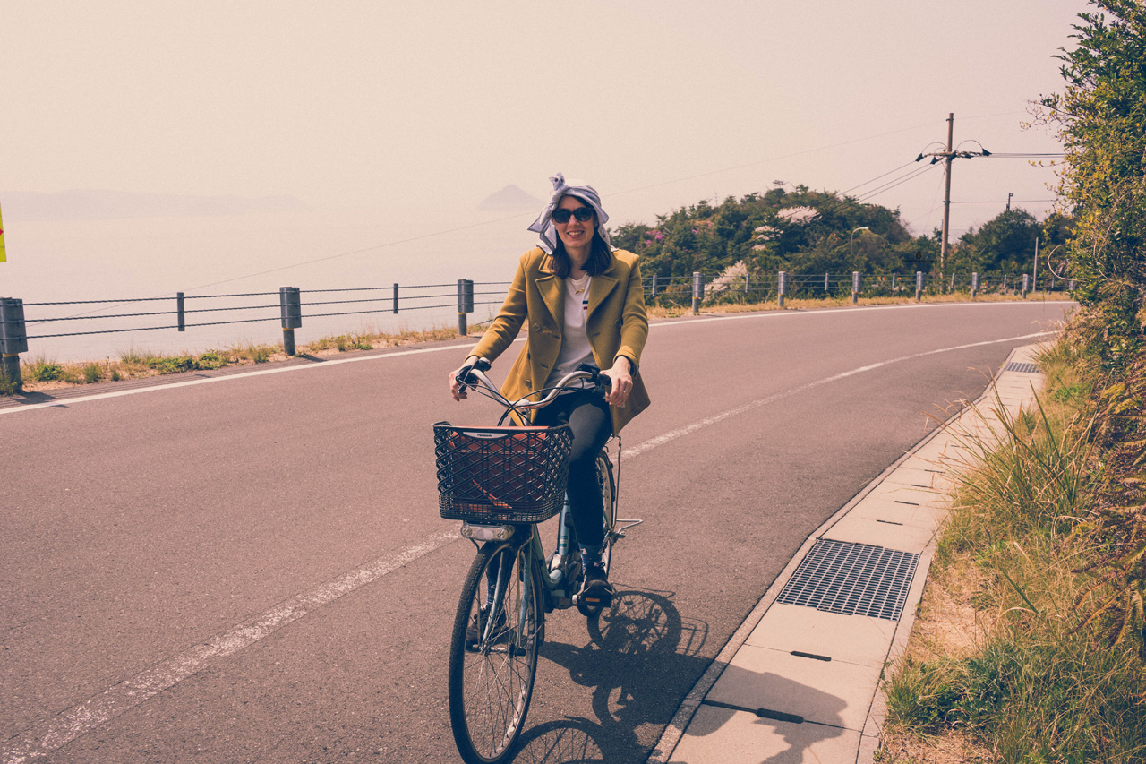 Cycling around Naoshima island