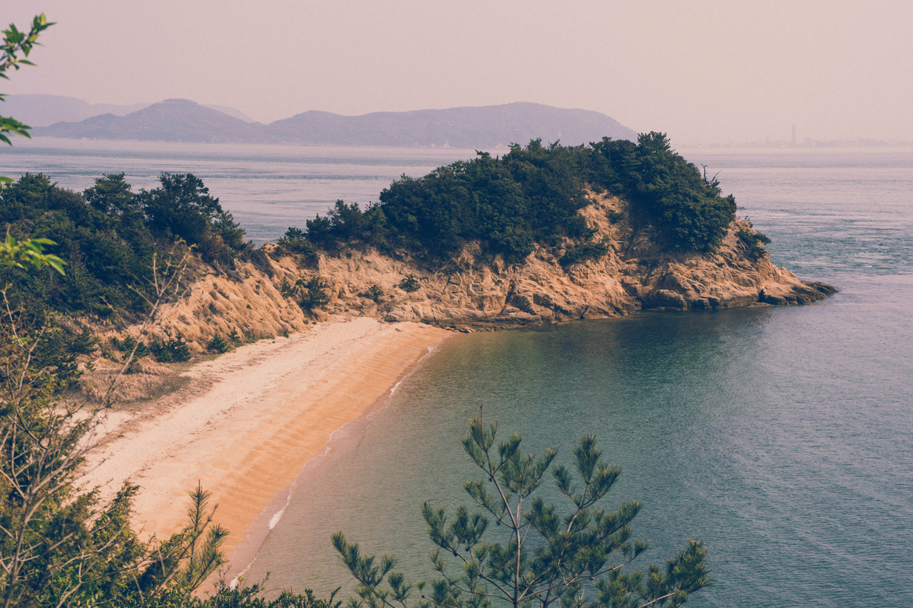 A beach on Naoshima island, Japan