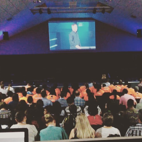 "GLS Namibia @agapekingdomcommunity kicks off today with @craiggroeschel ""Bend the Curve"" #glsnamibia #gls19"