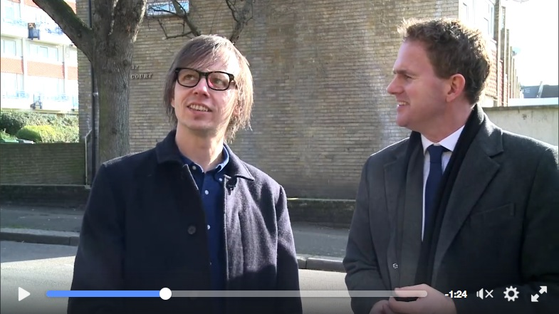 On Facebook? You may be able to view this short ITV London news story when Toby Sadler met with artist Danny Coope on 2 Feb 2016