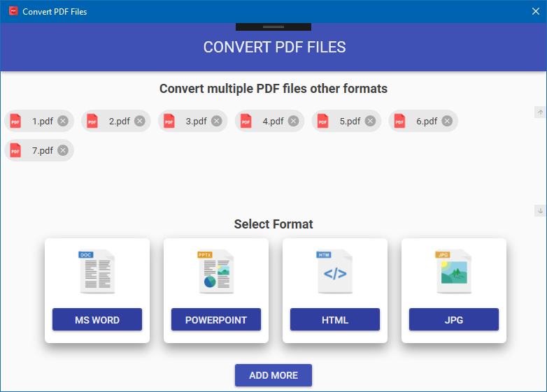 Convert PDF to MS Word, PowerPoint, HTML and Image