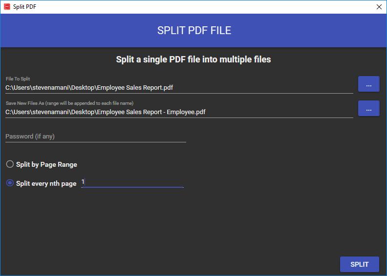 Split a PDF File into Multiple Documents