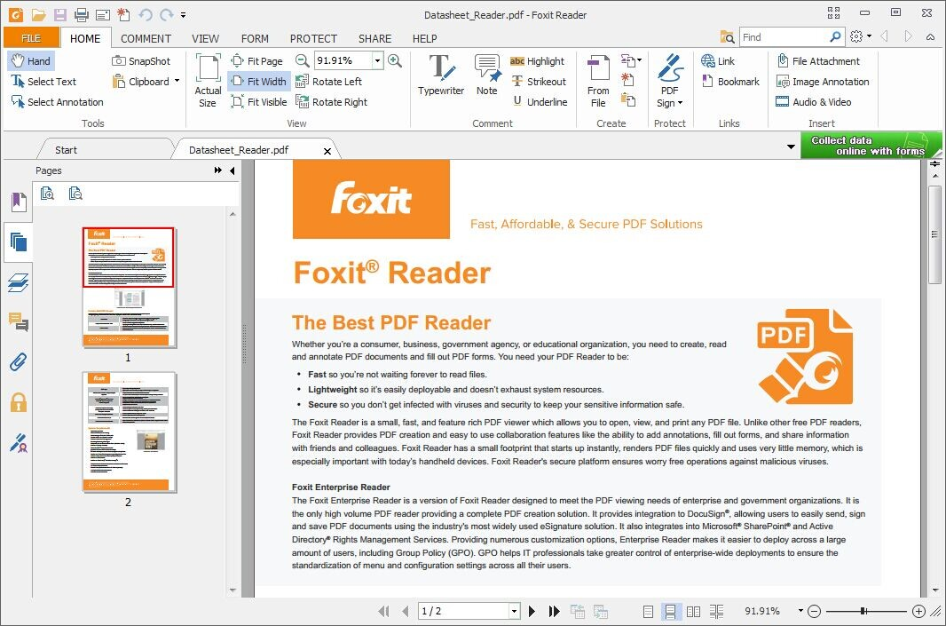 FoxIt Reader's Office Ribbon UI is familiar