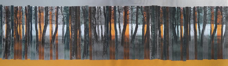Bosrand I, 2012 (24cm x 80,5cm) (verkocht)