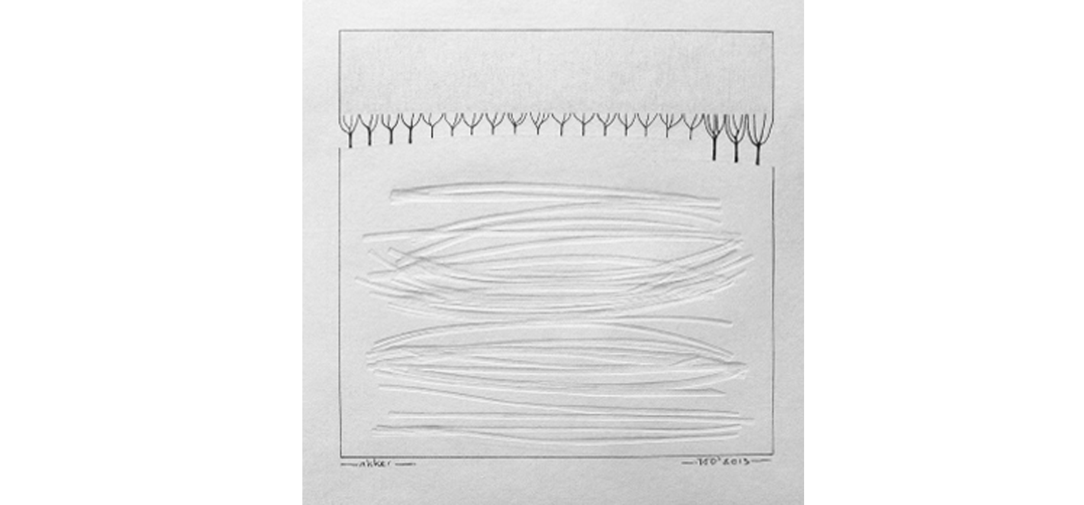Akker, 2013 (blinddruk, potlood) 21cm x 21cm (verkocht)