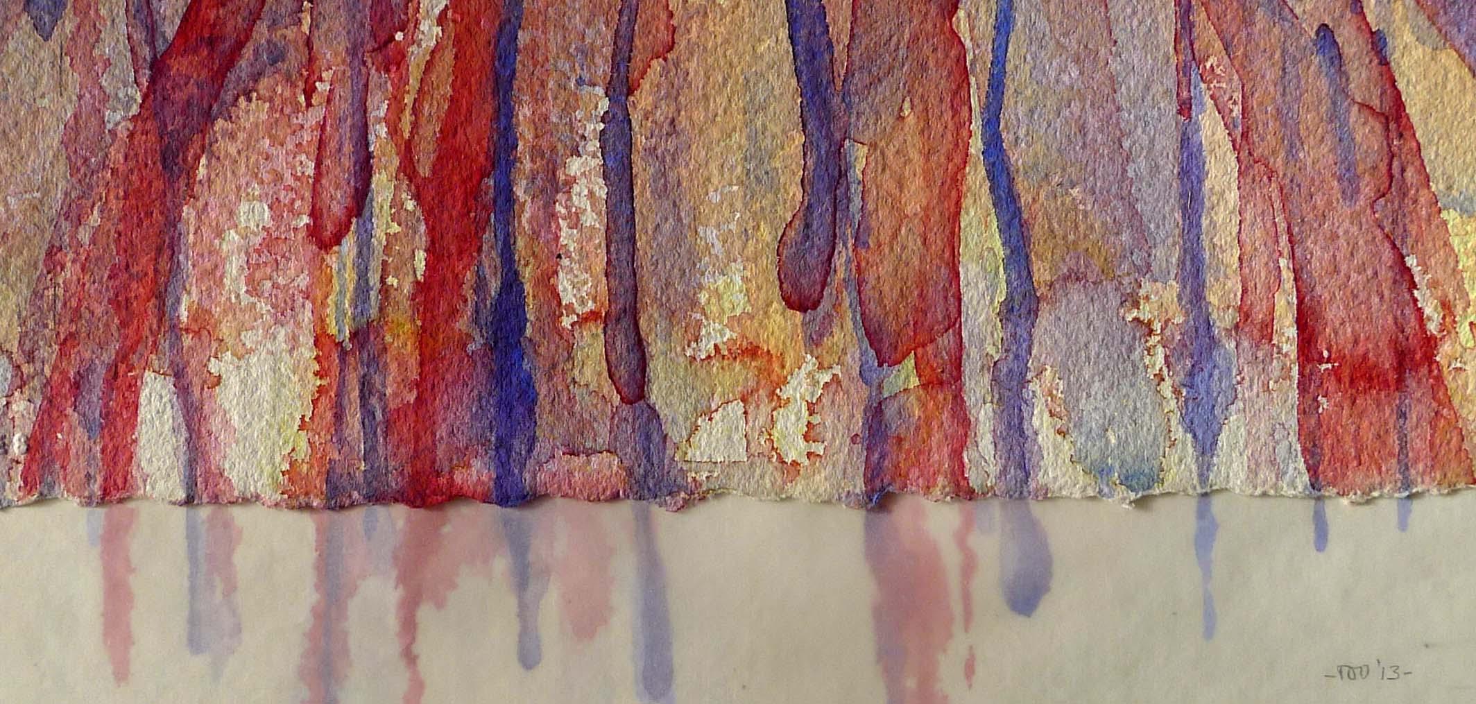 Z.T., 2013 (aquarel, calqueerpapier) 11,5cm x 23,5cm