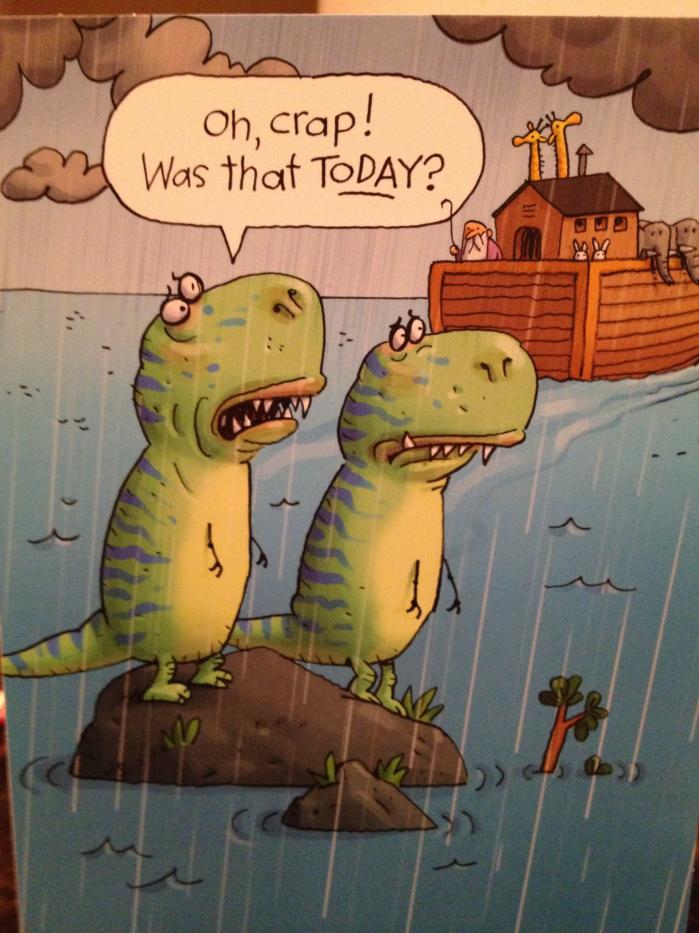 Send a card with a little humor, and put a smile one someone's face! This one is from  Hallmark .