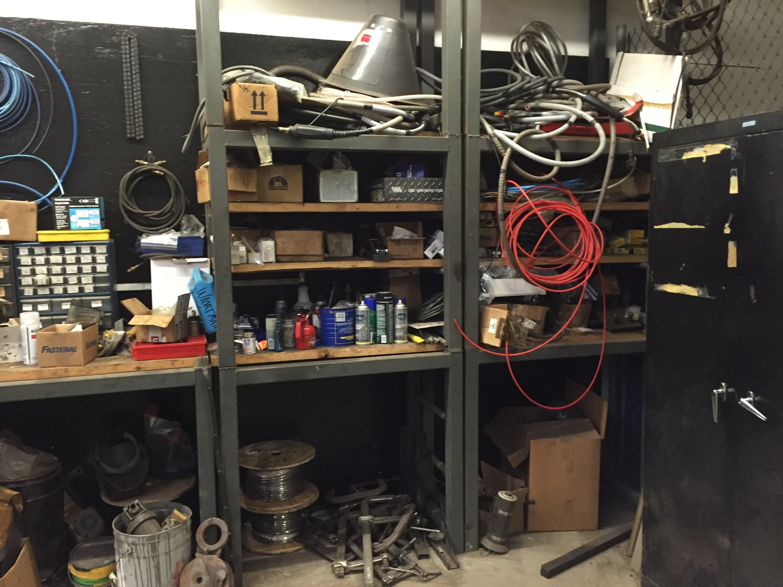 The goal was to have one continuous, cleared workbench.