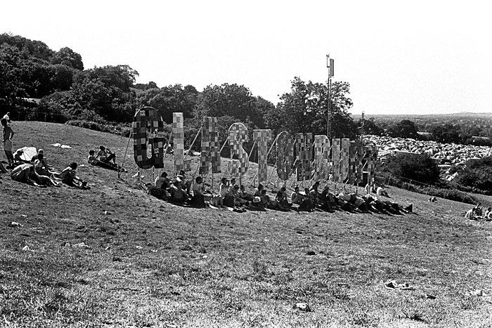 The Glastonbury sign. STUNICGLAST023
