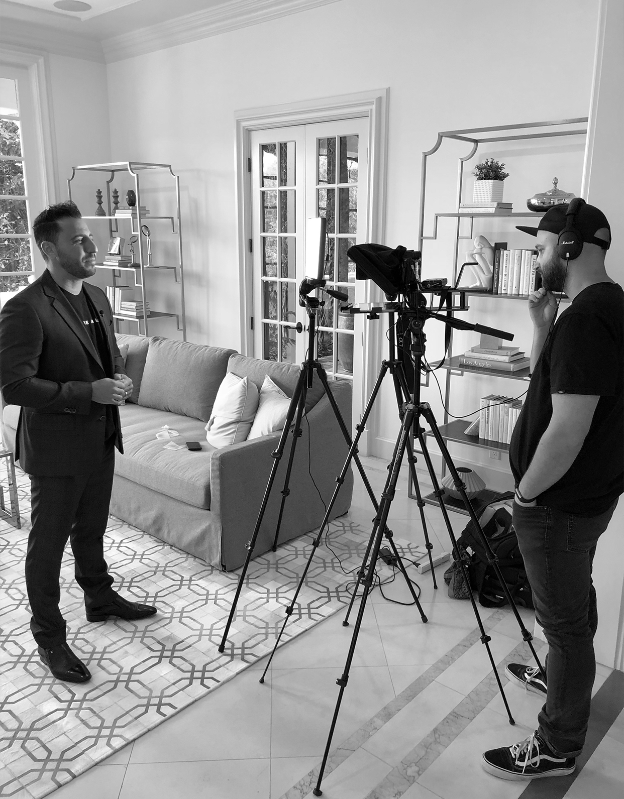filming with Josh Altman of Bravo's Million Dollar Listing LA