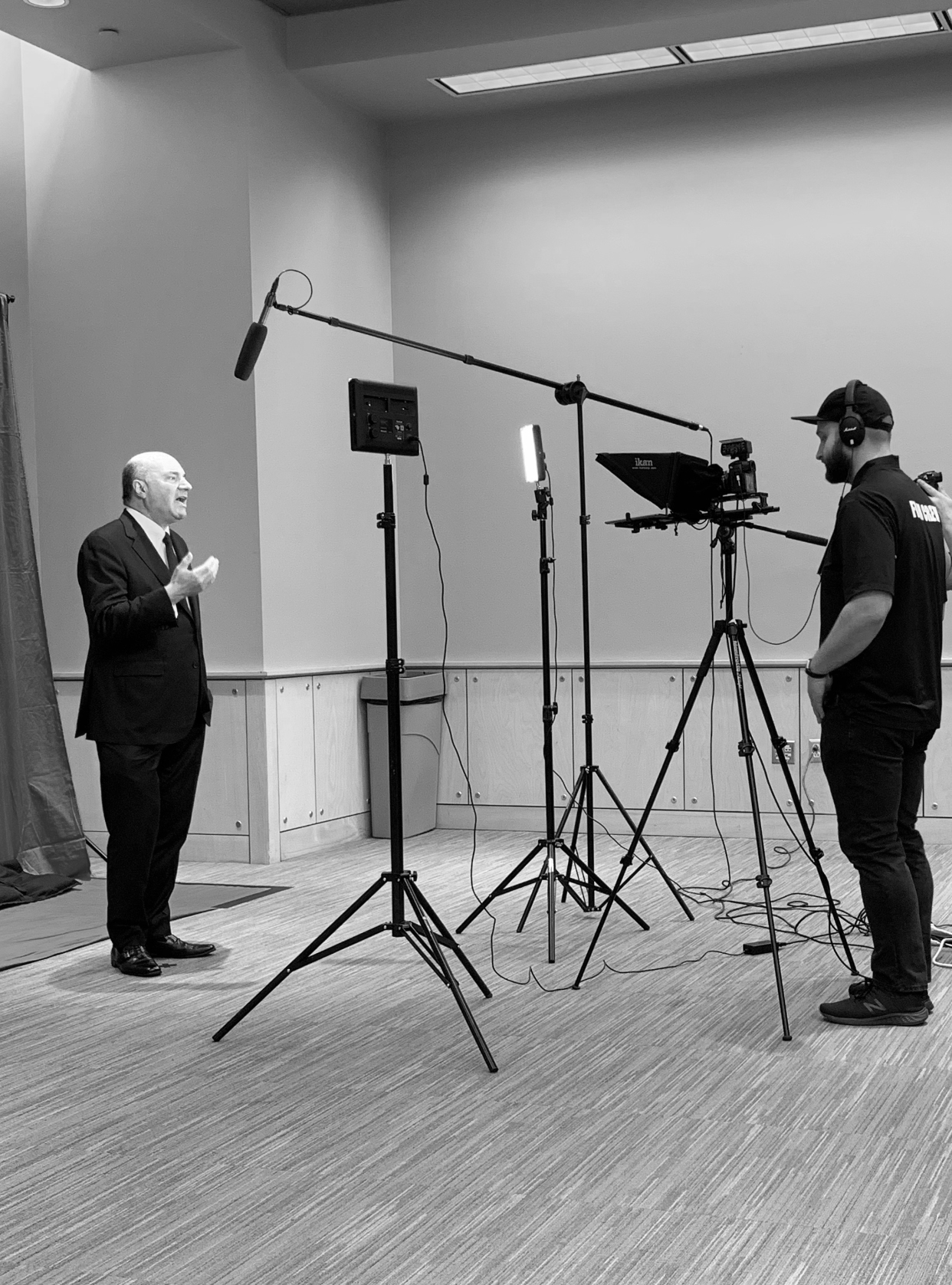 Filming with Kevin O'Leary from ABC's Shark Tank