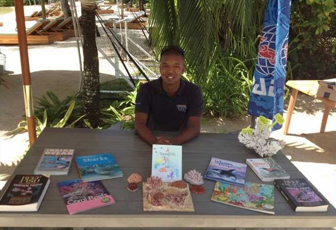 ''A Parrotfish's Tale'' at the Wise Oceans marine discovery station at the Four Seasons Resort Anahita, Mauritius.
