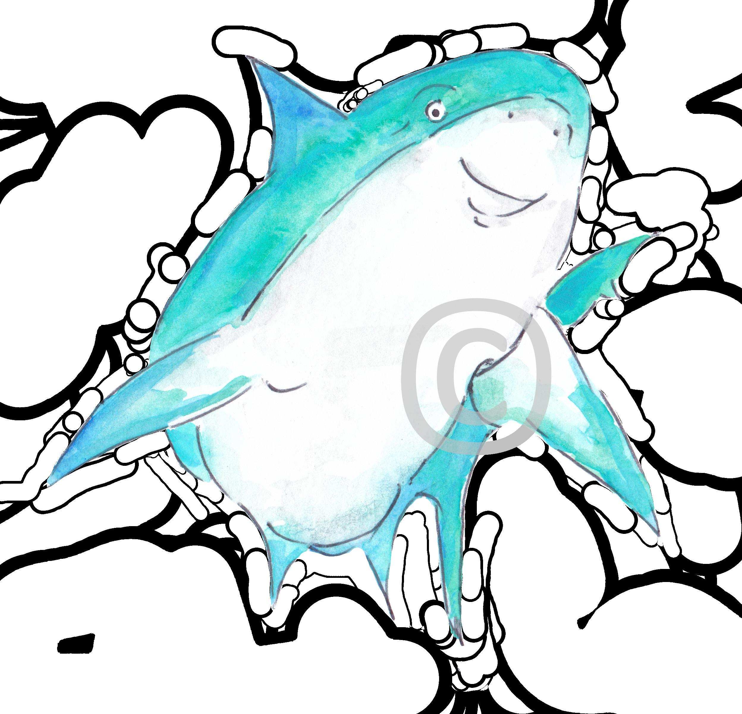 Logos, Mascots and more - Meet Shark Conservation Cayman's (https://www.sharkconservationcayman.com) mascot, ''Ruben the Reef Shark!''