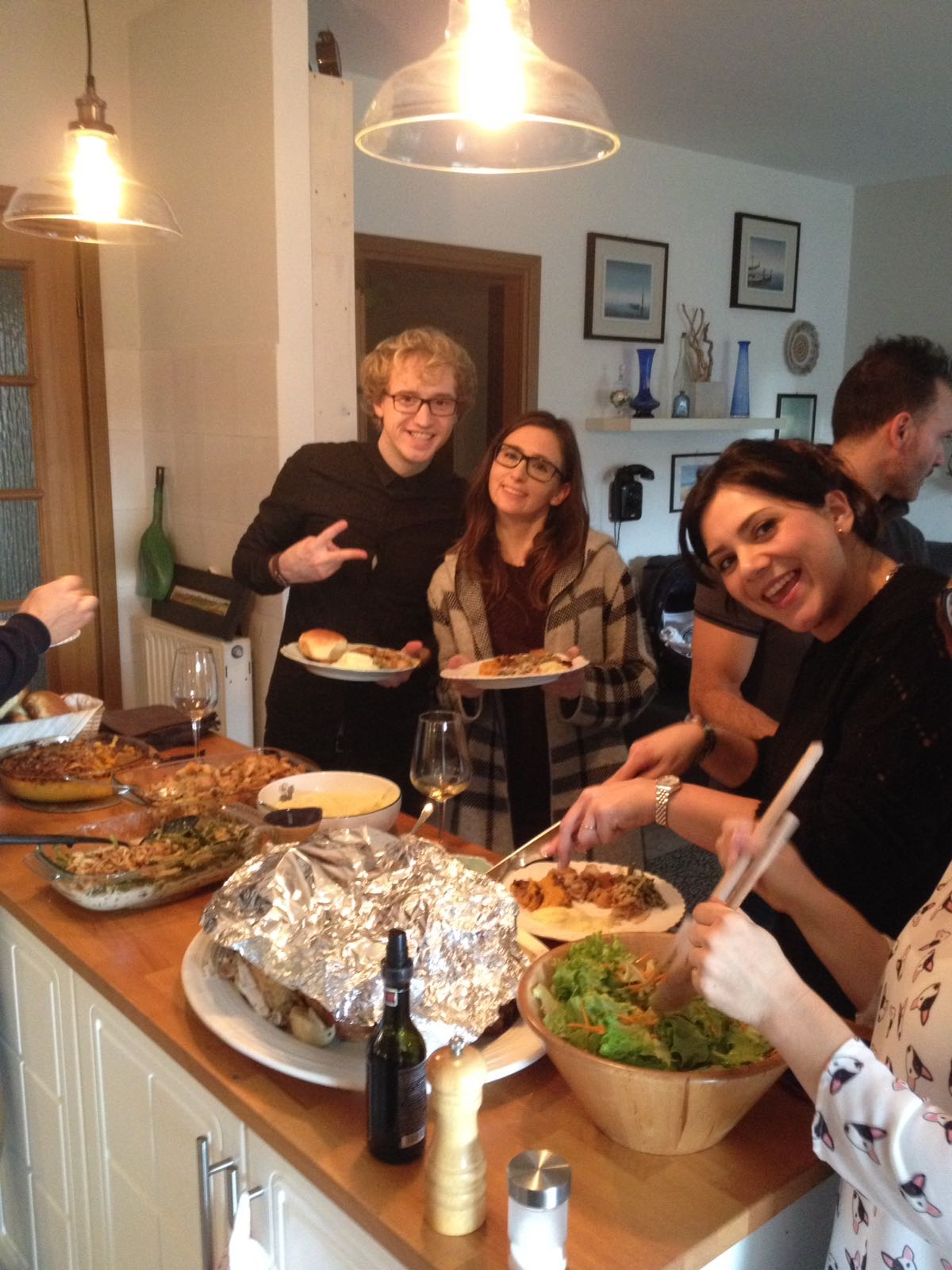 This past Sunday we celebrated Thanksgiving with our community group