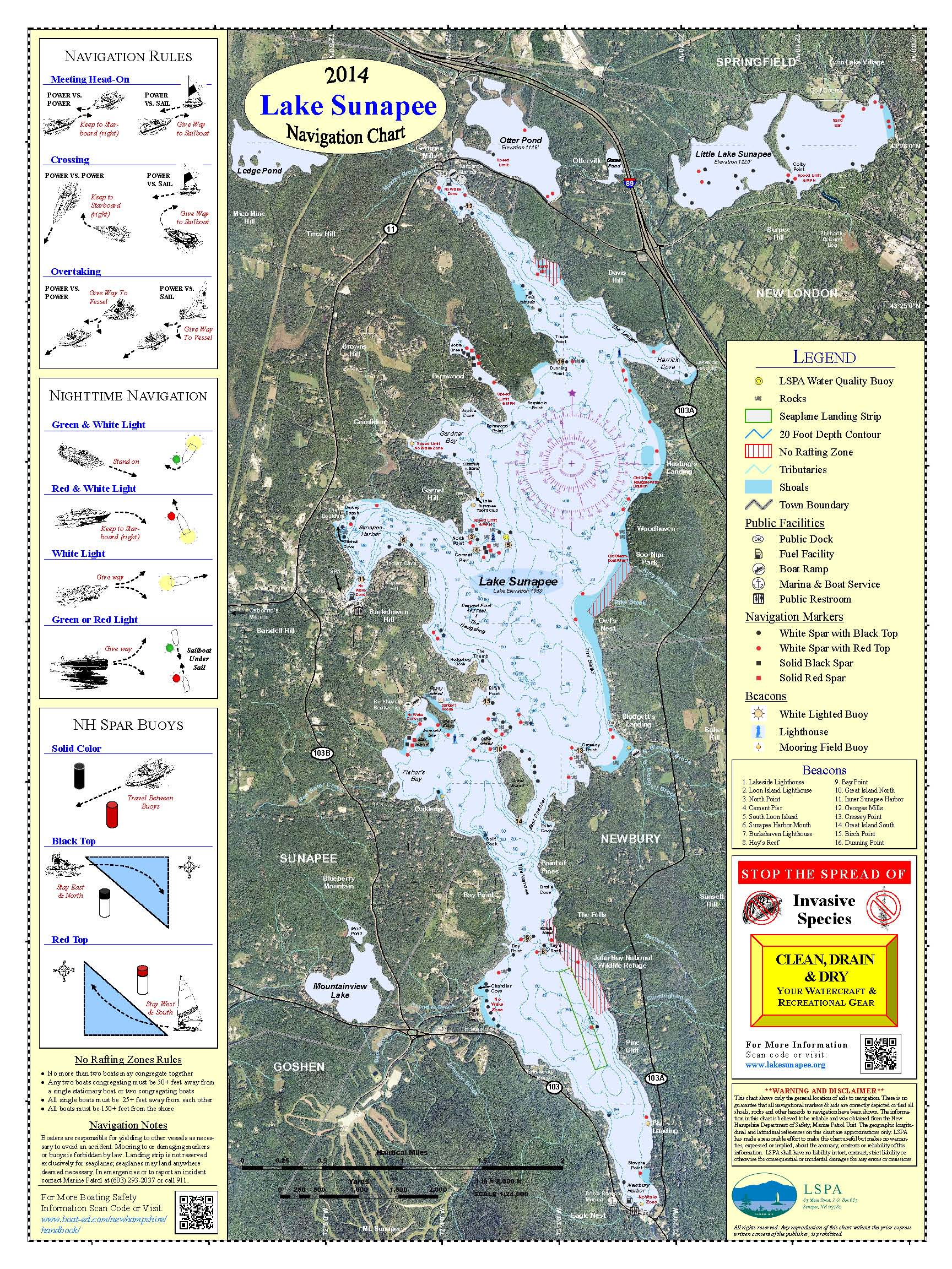 Non-Laminated Navigation Chart  (18 by 24 inches)  $7.00