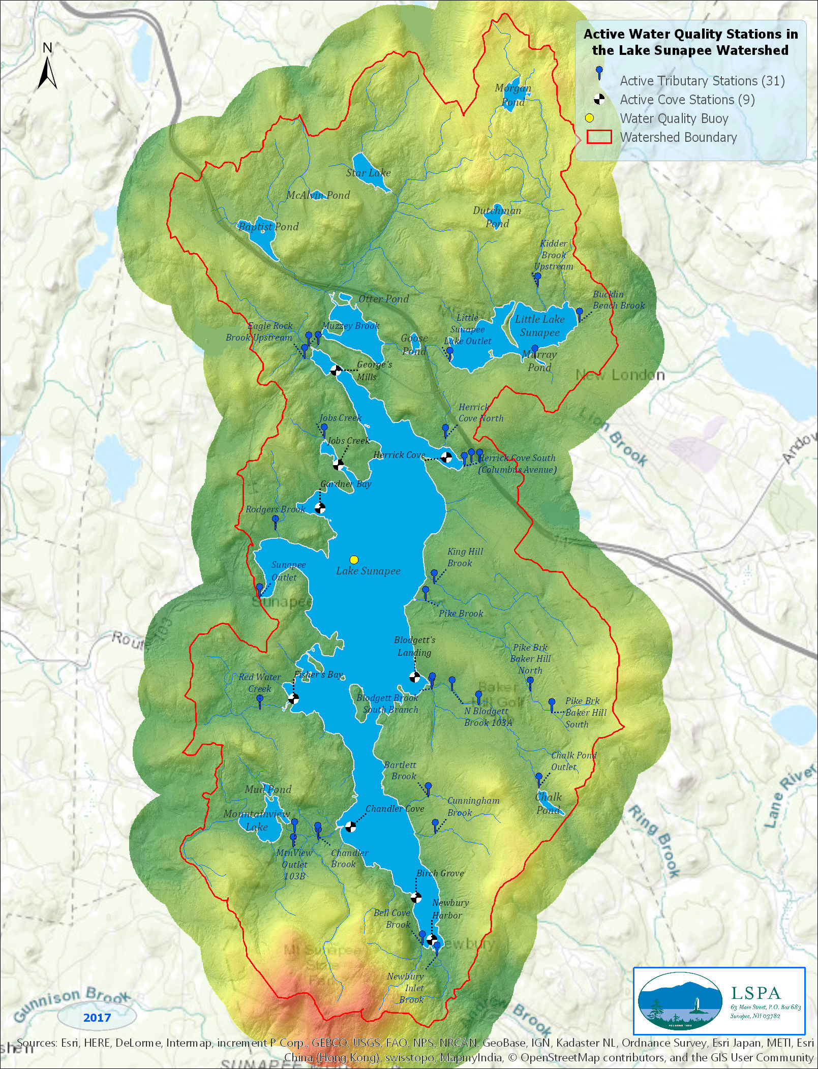 Active Water Quality Stations