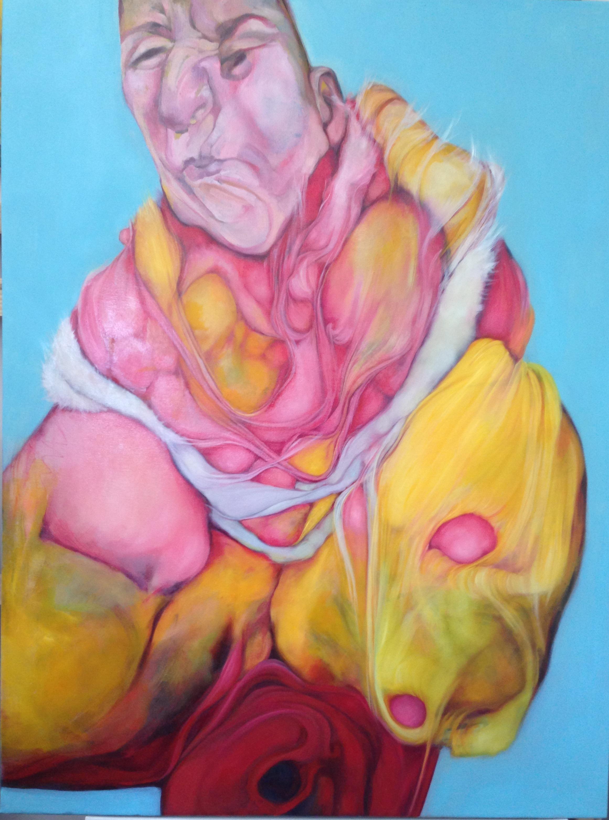 """Perri Neri, Crone, 2015, oil on canvas, 41"""" x 31"""""""
