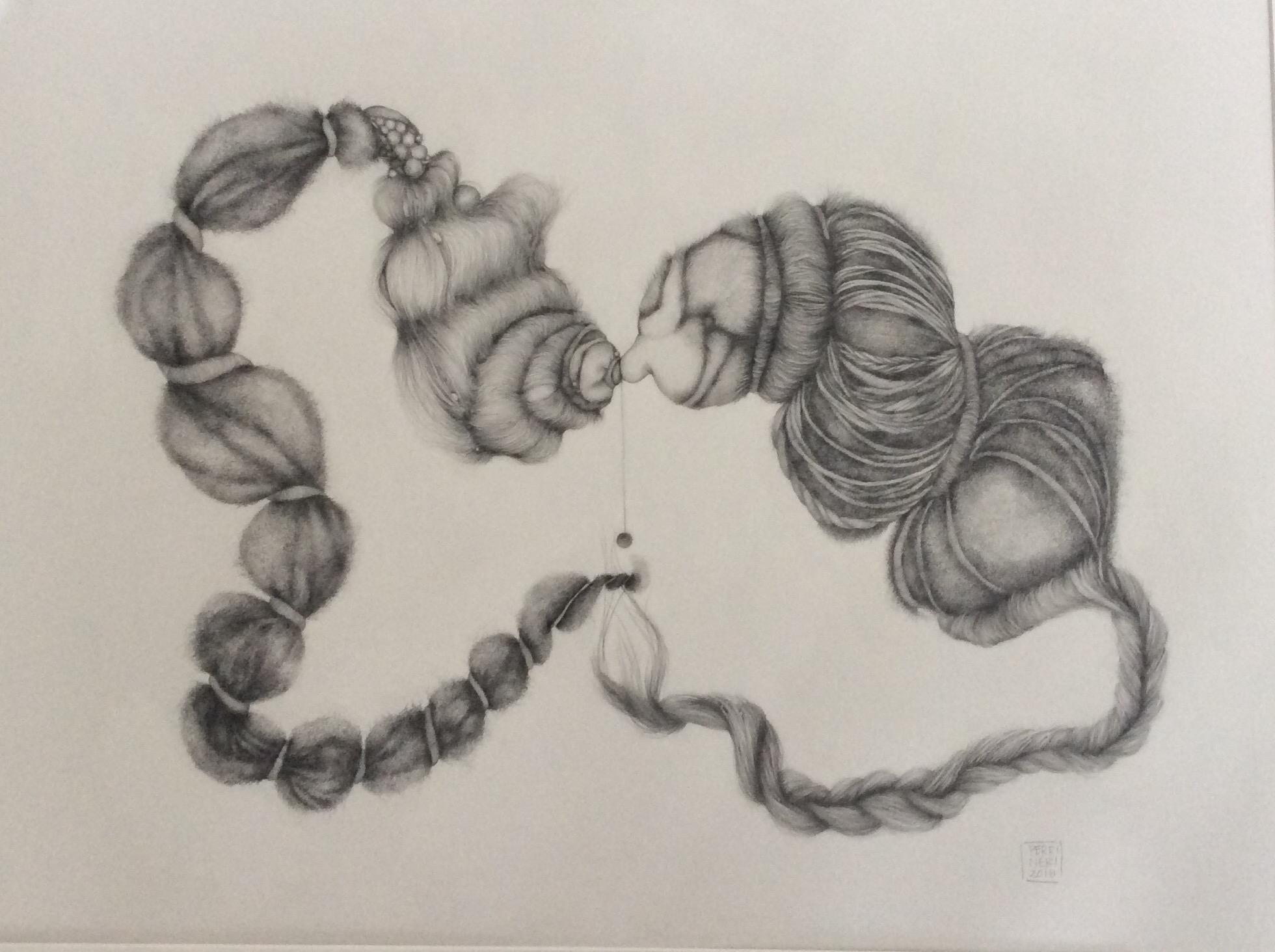 "2016, graphite on Arches paper, 26"" x  36"""