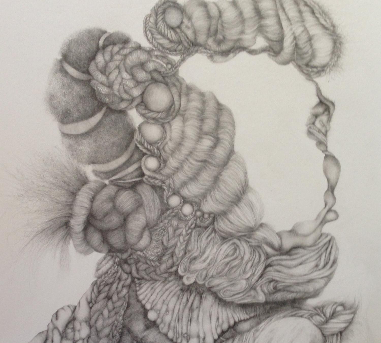 "Wedding Portrait, 2013, graphite on Arches paper, 30"" x 22"""