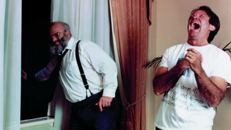 A melhor foto de Oliver Sacks e Robin Williams juntos! ( Tampa Bay Times )