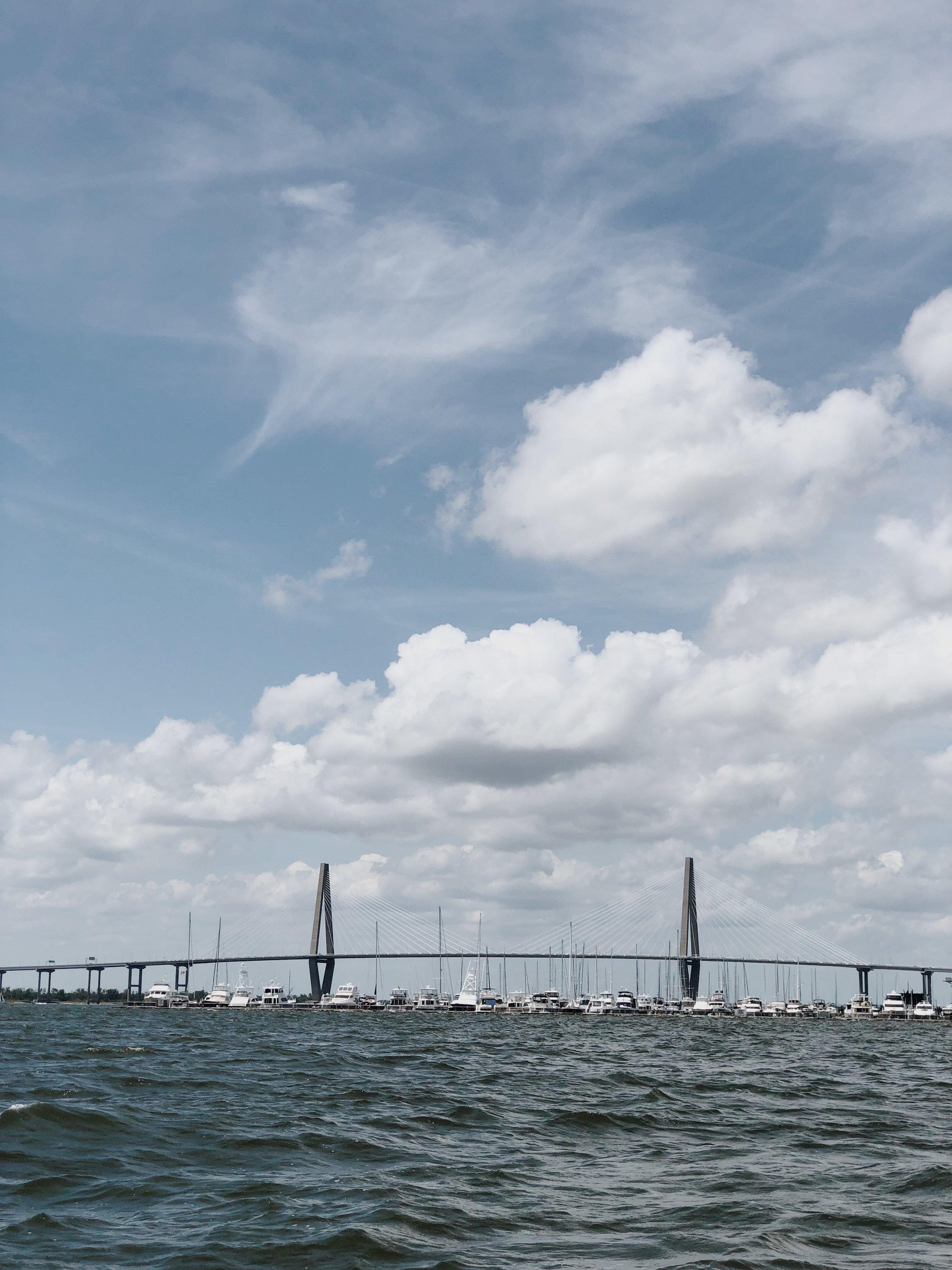 Arthur Ravenel Jr. Bridge view from the boat