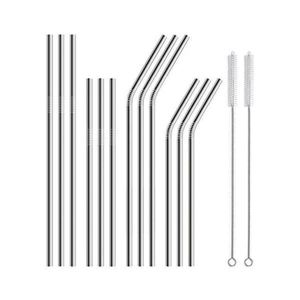 12-Pack Metal Straws