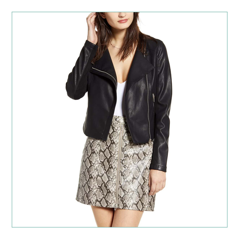 BLANKNYC Leather Jacket - I have been looking for a new leather jacket for years… I threw away the one I used to own in college last year because it literally had holes in it. This one is so chic and it also comes in a tan color!