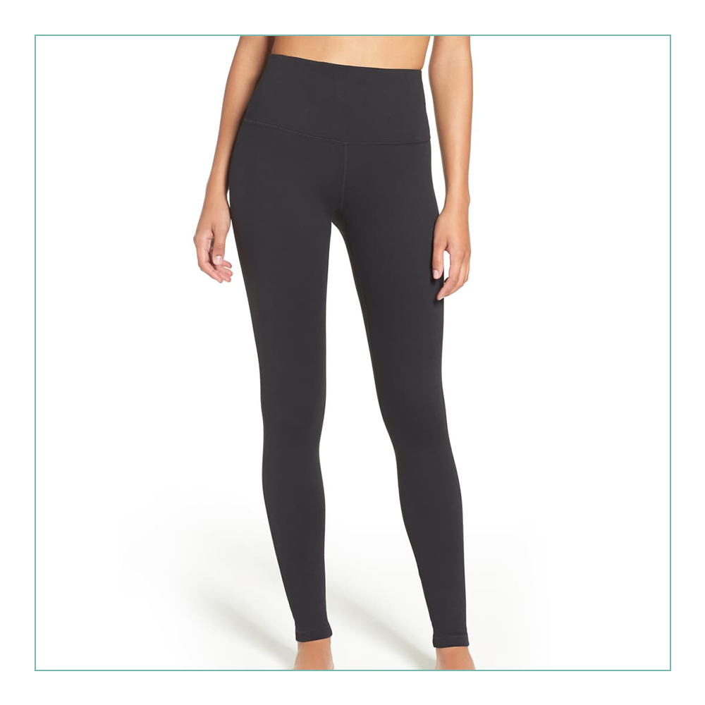 Zella High Rise Leggings - These are my FAVORITE leggings. EVER! I own them in black, navy & green. They do not roll down, are amazing quality, and suck you in. I work out in these, wear these out, wear them to work. You name it. I own Lululemon leggings and still prefer these bad boys.