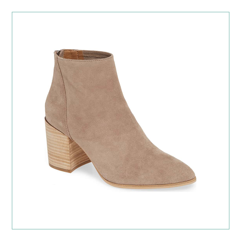 Steve Madden Jillian Bootie - This is the perfect neutral bootie for winter. It will go with everything. I always buy a tan bootie every fall and I end up wearing it so much, I need a new one by next year. This is under $100 and so cute!