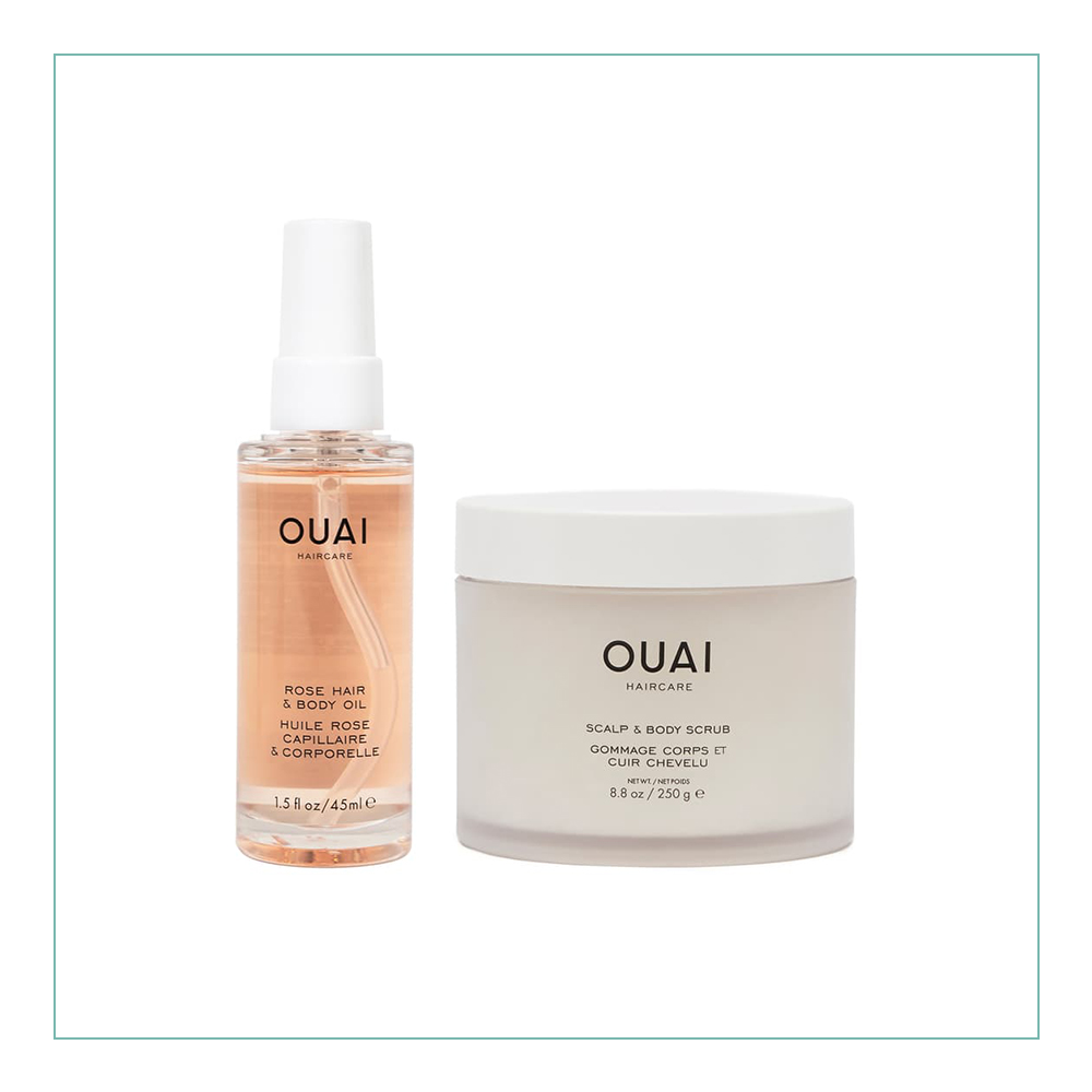 OUAI to Glow Set - Ok, first: I am obsessed with all things OUAI. I own almost every product. I rub this rose oil all over my body and hair weekly. This set is so cute and it is the perfect start to your OUAI collection!