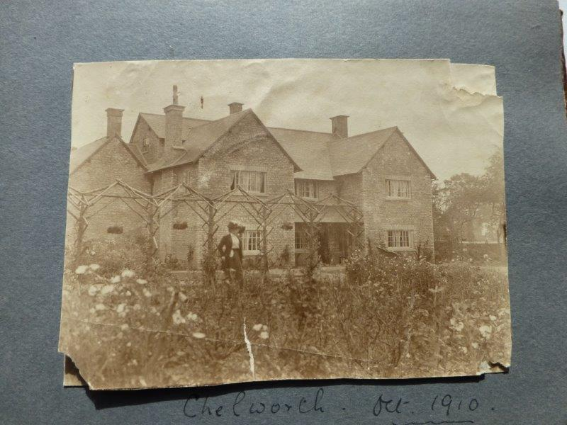 His parents home in 1910