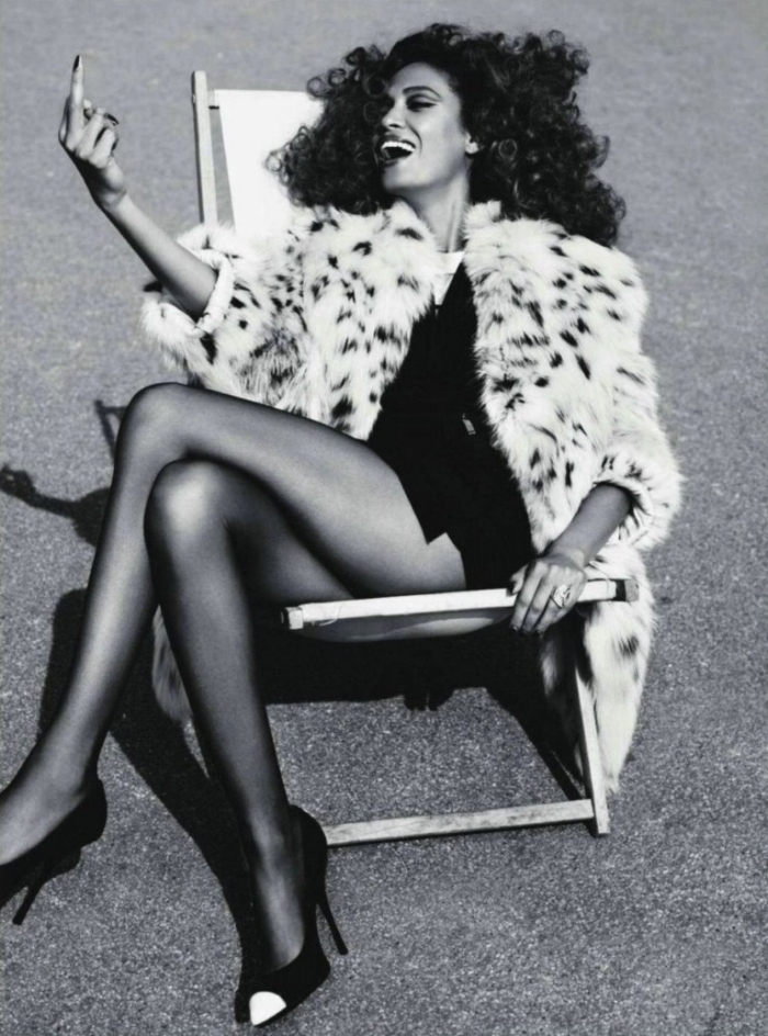 "Joan Smalls for ""French Connection"" Vogue Paris Sep '11."